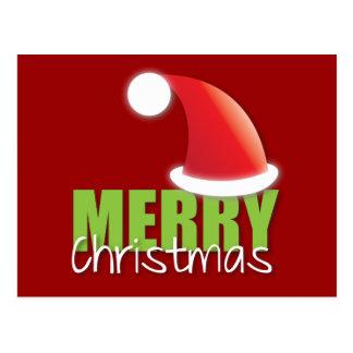 Feliz Natal com o chapéu bonito do papai noel Cartão Postal