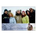 Feliz Natal com sua letra do Natal para dentro Cartao