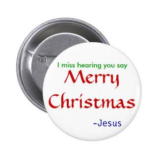 Feliz Natal da audição da falta - redondo Bóton Redondo 5.08cm