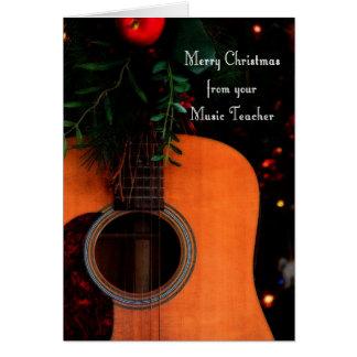 Feliz Natal da canção alegre do professor de músic Cartão Comemorativo