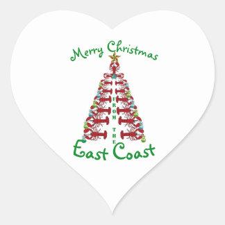 Feliz Natal da etiqueta da costa leste