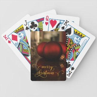 Feliz Natal da folha de ouro do falso com as bolas Baralho Para Poker