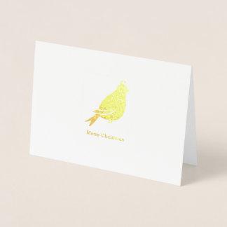 Feliz Natal da perdiz - cartão dobrado Natal