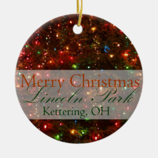 Feliz Natal de Kettering, ornamento de Ohio 2015