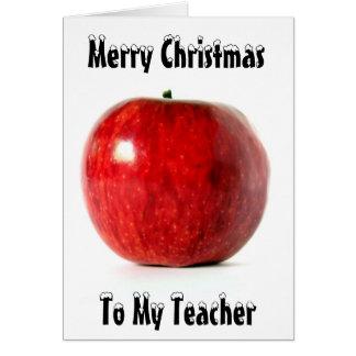 Feliz Natal de Red_Apple, a meu professor Cartão Comemorativo