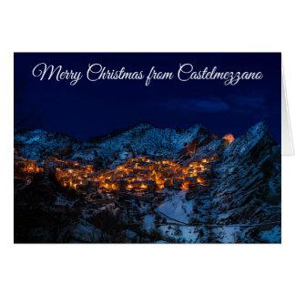 Feliz Natal do cartão de Castelmezzano Italia
