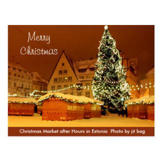 Feliz Natal do cartão de Estónia