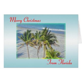 Feliz Natal do cartão de Natal de Florida, praia
