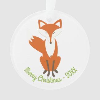 Feliz Natal do Fox da floresta - ornamento do