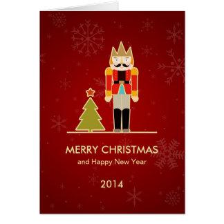 Feliz Natal do Nutcracker e feliz ano novo 2014 Cartão Comemorativo