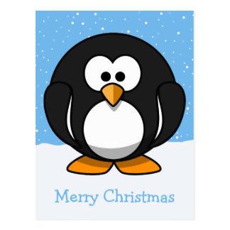 Feliz Natal do pinguim Cartão Postal
