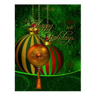 Feliz Natal do Xmas do cartão boas festas Cartao Postal