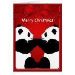 Feliz Natal dos amigos do urso de panda que cumpri Cartão