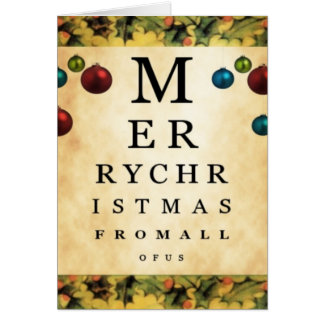 Feliz Natal dtodos nós cartão da carta de olho