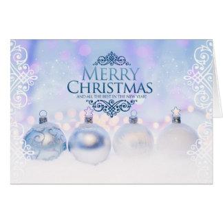 Feliz Natal e ano novo feliz Cartão Comemorativo