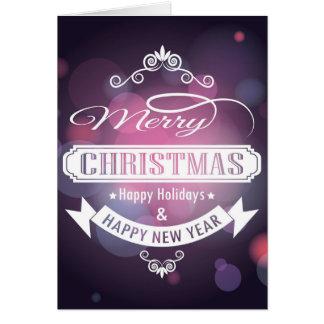 Feliz Natal e cartão do feliz ano novo