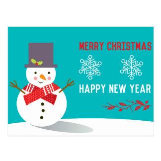 Feliz Natal e cartão do feliz ano novo Cartão Postal