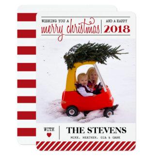Feliz Natal e cartão do feriado do feliz ano novo