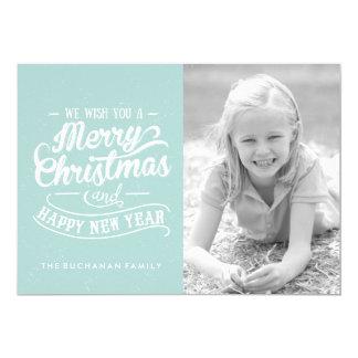 Feliz Natal e cartões com fotos do feliz ano novo