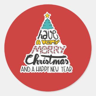 Feliz Natal e etiqueta do ano novo
