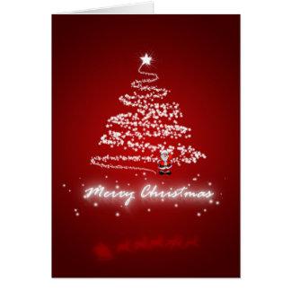 Feliz Natal e feliz ano novo Cartao