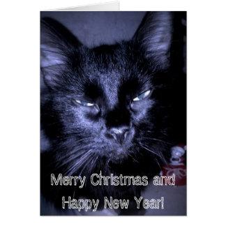 Feliz Natal e feliz ano novo! Cartão Comemorativo