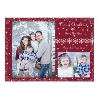 Feliz Natal e feliz ano novo! Cartão Convite 12.7 X 17.78cm