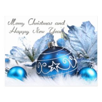 Feliz Natal e feliz ano novo Cartões Postais