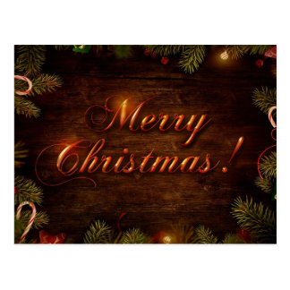 Feliz Natal e feliz ano novo Cartao Postal