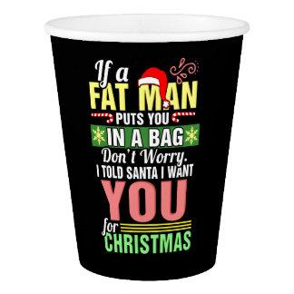 Feliz Natal e Papai Noel Copo De Papel