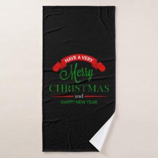 Feliz Natal e toalha do feliz ano novo