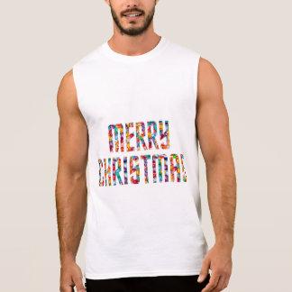Feliz Natal e um FELIZ ANO NOVO 2014 Camisas Sem Mangas