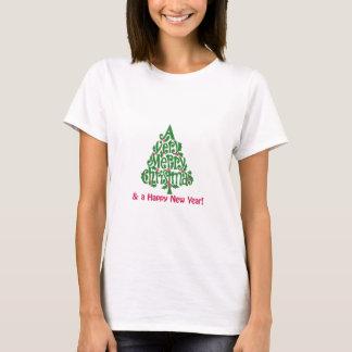 Feliz Natal e um feliz ano novo! Camiseta