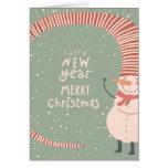 Feliz Natal e uns desenhos animados do feliz ano Cartoes