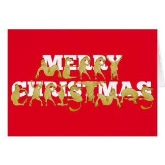 Feliz Natal escrito nos pôneis! Cartão Comemorativo