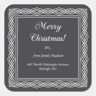Feliz Natal! - etiqueta quadrada