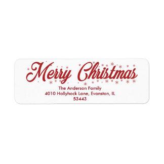 Feliz Natal - etiquetas do roteiro