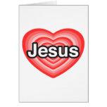 Feliz Natal! Eu amo Jesus. Coração de Jesus Cartao