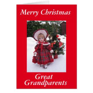 Feliz Natal, excelente - avós Cartão Comemorativo