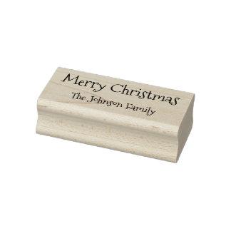 Feliz Natal feito sob encomenda do nome de família Carimbo De Borracha