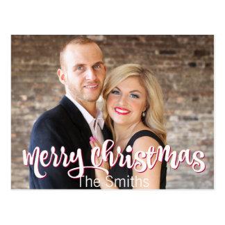 Feliz Natal feito sob encomenda um cartão da foto
