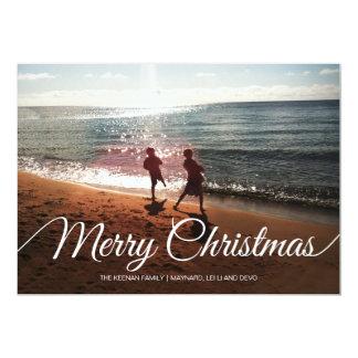 Feliz Natal & feliz ano novo | 5x 7% pipe% liso Convite 12.7 X 17.78cm