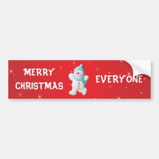 Feliz Natal feliz do boneco de neve todos feito so Adesivo Para Carro
