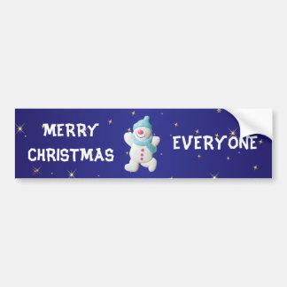 Feliz Natal feliz do boneco de neve todos feito so Adesivos