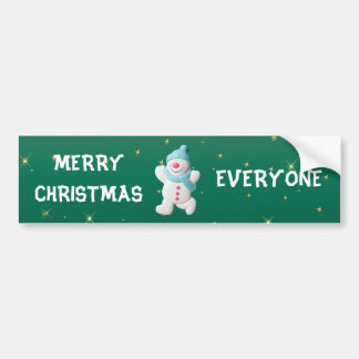 Feliz Natal feliz do boneco de neve todos feito so Adesivo