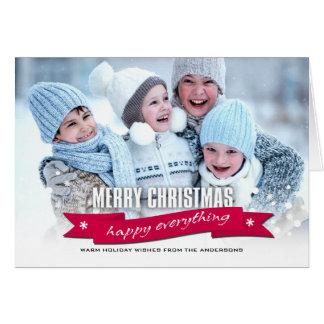 Feliz Natal. Feliz tudo cartões de fotos feitos