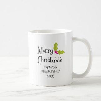 Feliz Natal, feriado retro Caneca De Café