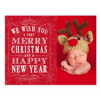 Feliz Natal, foto do feliz ano novo Cartão Postal