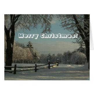 Feliz Natal grande do cartão