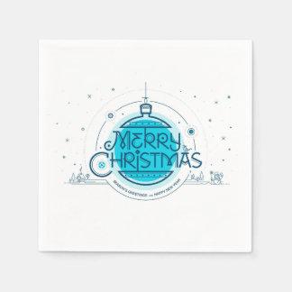 Feliz Natal. Guardanapo de papel do cocktail